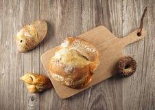 sortiment bakat bröd Arkivbilder
