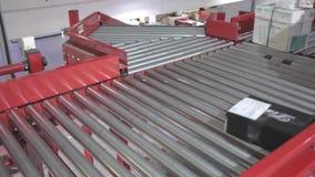 Sorting Distribution Conveyor stock video footage