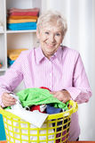 Sorting laundry Royalty Free Stock Photos