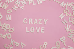 Sorting letters Crazy love on pink. Sorting letters Crazy love on pink stock photography