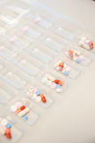 Sorting Medications for patient`s at a pharmacy. Or hospital Stock Images