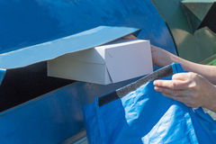 Sorting paper hosehold waste concept Stock Images