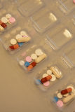 Sorting Pills. Manual Sorting Medications for patients stock image