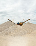 Sorting sand at gravel pit Stock Images