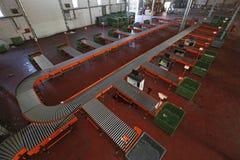 Conveyor Loop. Sorting System With Conveyor Loop in Distribution Warehouse royalty free stock photo