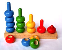 Sorting toy. Colorful sorting and counting toy royalty free stock photos