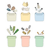 Sorting waste.  objects Royalty Free Stock Photo