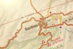 Sortino. The island of Sicily, Italy.  royalty free stock photos