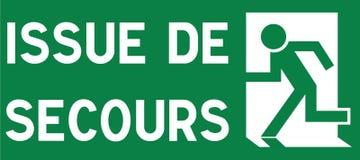 Sortita de secours di Panneau de signalisation illustrazione vettoriale