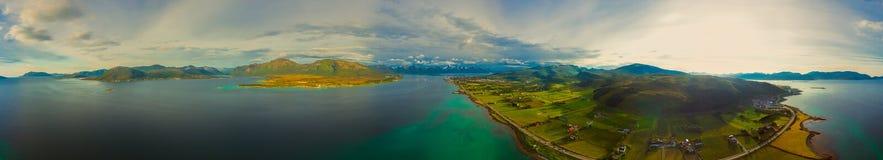 Sortland aerial panorama Stock Image