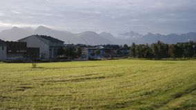 Sortland city Stock Photography