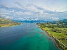 Sortland en las islas de Vesteralen Imagen de archivo libre de regalías