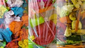 Sortować odpady Papieru, klingerytu i jedzenia świstki, zbiory wideo