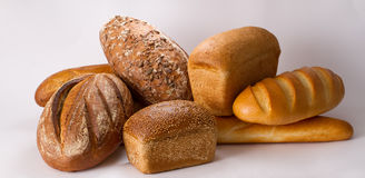 Sorts of bread Stock Photos