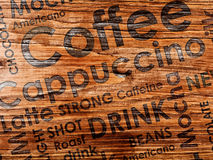 Sorts of coffe. On wood background Royalty Free Stock Photography
