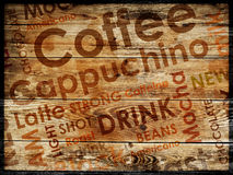 Sorts of coffe background. Sorts of coffe on wood background Stock Photo