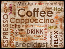 Sorts of coffee. Background Stock Image