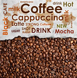 Sorts of coffee background Stock Photography