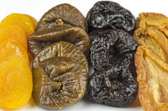 Sorts of dried fruits Stock Photos