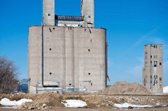 Sorts industriels abandonnés à Minneapolis Photos stock