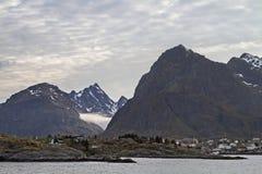 Sorvagen. View of Sorvagen, the destination port of Bodo ferry to Lofoten Stock Image