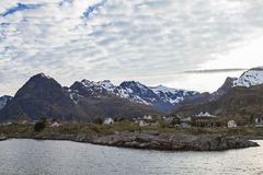 Sorvagen. View of Sorvagen, the destination port of Bodo ferry to Lofoten Royalty Free Stock Photography