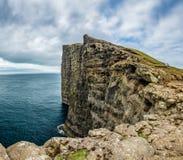 Sorvagsvatn lake cliffs to the ocean, Faroe Islands