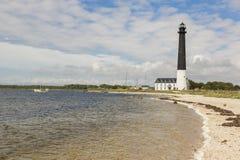 Sorve lighthouse against blue sky in Estonia. Sorve lighthouse against blue sky, Saaremaa island, Estonia Royalty Free Stock Image