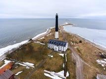 Sorve Lighthouse on peninsula in Torgu Parish, island of Saaremaa, Estonia, Europe. Sorve Lighthouse on peninsula in Torgu Parish, island Saaremaa, Estonia Stock Images