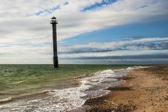 Sorve Lighthouse Saaremaa Estonia. Falling lighthouse on Island of Saaremaa Estonia Stock Photo