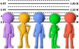Sorvegli i mugshots dell'allineamento della gente carente di simbolo 3D Immagine Stock Libera da Diritti