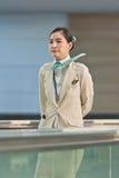 Sorvegliante di volo di Korean Air, Seoul, Corea del Sud Fotografie Stock Libere da Diritti