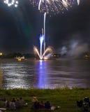 Sorveglianza dei fuochi d'artificio Fotografia Stock