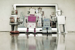 Sorveglianza dei robot Immagine Stock