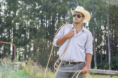 Sorveglianza del cowboy Immagini Stock Libere da Diritti