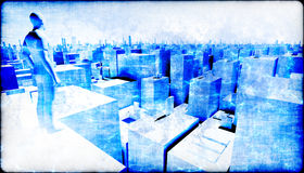 Sorveglianza della città Fotografia Stock Libera da Diritti
