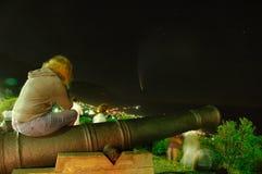 Sorveglianza della cometa Fotografie Stock Libere da Diritti