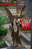 Sorveglianza della statua di angelo Fotografia Stock Libera da Diritti