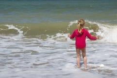 Sorveglianza delle onde di schianto Fotografia Stock Libera da Diritti