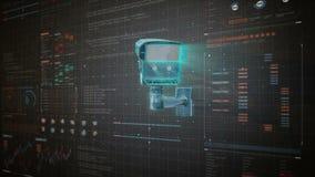 Sorveglianza di concetto della videocamera di sicurezza, tecnologia 1 dello iot di sicurezza domestica illustrazione vettoriale
