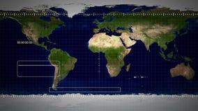 Sorveglianza di GPS illustrazione di stock