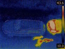 Sorveglianza di registrazione di immagini termiche immagine stock libera da diritti