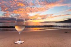 Sorver no vinho na linha costeira de Kihei Imagem de Stock