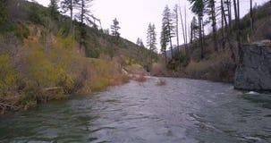 Sorvolare il fiume della montagna archivi video