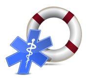 SOS医疗财富例证设计 免版税库存照片