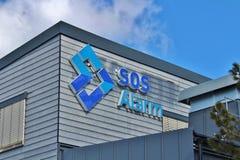 SOS警报 库存图片