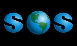 SOS πλανήτη Γη ελεύθερη απεικόνιση δικαιώματος