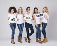 SOS для мира Стоковые Фото