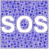 SOS Fotografie Stock Libere da Diritti
