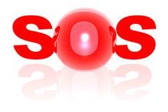 SOS Imagens de Stock Royalty Free